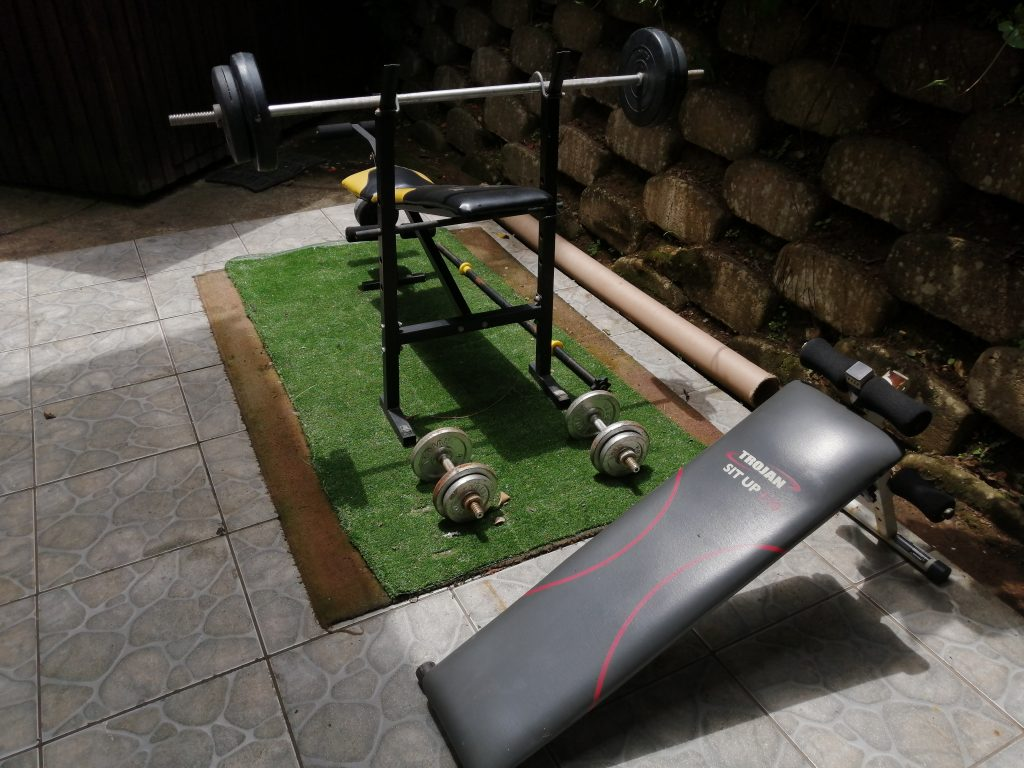 GYM EQUIPMENT at student accommodation durban godsolve